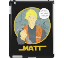 Matt The Radar Technician iPad Case/Skin