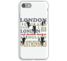 Stylish London lettering design with business executives iPhone Case/Skin