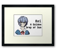 Rei, A Golden Drop of Sun Framed Print