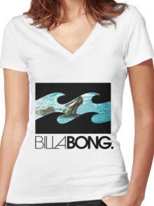 Billabong Women's Fitted V-Neck T-Shirt