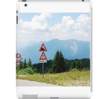 Road Signs at Top of Mountain iPad Case/Skin