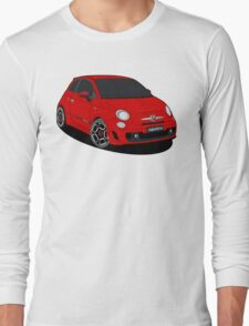 500 abarth red Long Sleeve T-Shirt