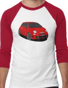 500 abarth red Men's Baseball ¾ T-Shirt