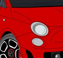 500 abarth red Sticker