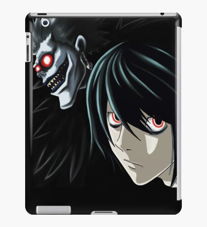 Ryuk and L from the Anime/Manga TV show Death Note: Original Digital Painting iPad Case/Skin