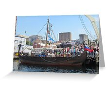 Russian Viking Ship 'Rusich' Greeting Card