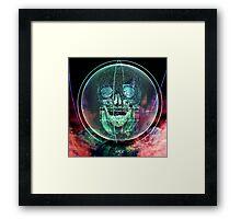 Wire Skull 02 Framed Print