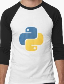 Python logo Men's Baseball ¾ T-Shirt