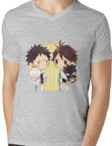 Chibi 2 Haikyuu!! Anime Mens V-Neck T-Shirt