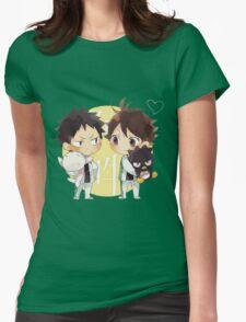 Chibi 2 Haikyuu!! Anime Womens Fitted T-Shirt