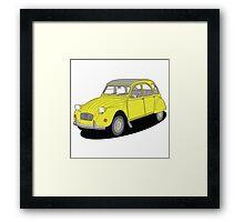 2cv yellow Framed Print