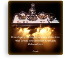 Budda Altar Canvas Print