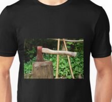 Old Axe on Wood Block Unisex T-Shirt