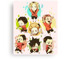 Chibi 3 Haikyuu!! Anime Canvas Print