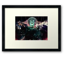 Wire Skull- Full Landscape Framed Print