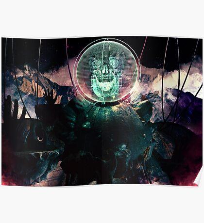 Wire Skull- Full Landscape Poster
