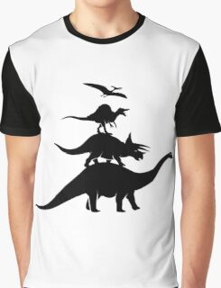 Dino Town Musicians Graphic T-Shirt