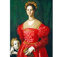 Agnolo Bronzino - A Young Woman and Her Little Boy  1540 Woman Portrait Photographic Print
