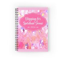 Digging for Spiritual Gems (Pink) English Spiral Notebook