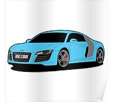 R8 blue Poster