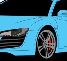 R8 blue Sticker