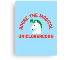 Adore the Magical Uniclovercorn Canvas Print