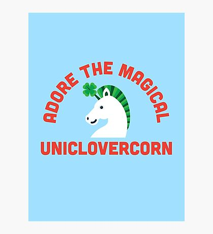 Adore the Magical Uniclovercorn Photographic Print