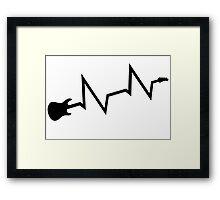 Guitar heartbeat Framed Print