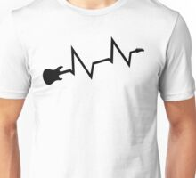Guitar heartbeat Unisex T-Shirt