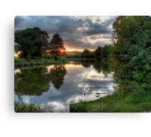 Two Rods at Sunset Canvas Print