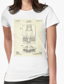 Stenotype Keyboard-1915 Womens Fitted T-Shirt