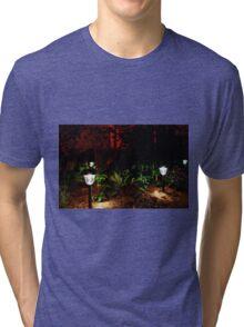 Garden Solar Lights in the Dark Tri-blend T-Shirt