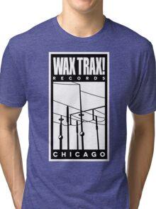 Wax Trax Logo Tri-blend T-Shirt