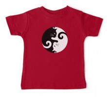 Ying Yang Cats - Black and white Baby Tee