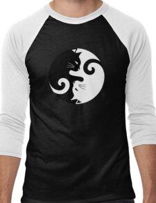 Ying Yang Cats - Black and white Men's Baseball ¾ T-Shirt