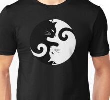 Ying Yang Cats - Black and white Unisex T-Shirt