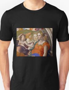 Agnolo Bronzino - The crossing of the Red Sea 1540 - 1545 Unisex T-Shirt