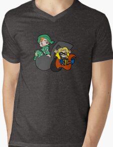 Polka Dots & Stripes Mens V-Neck T-Shirt