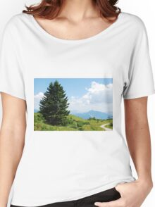 Landscape on Monte Zoncolan Women's Relaxed Fit T-Shirt