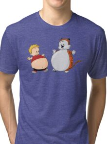 Calvin And Hobbes Funny Tri-blend T-Shirt