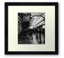 London Paddington - Black and White Framed Print