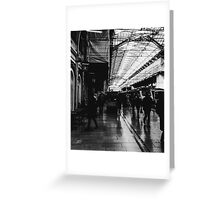 London Paddington - Black and White Greeting Card