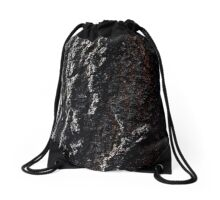 Charcoal Bark Drawstring Bag