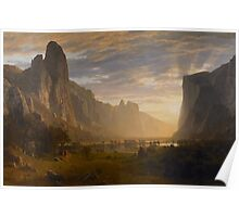 Albert Bierstadt - Looking Down Yosemite Valley, California American Landscape Poster