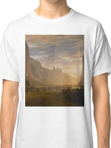 Albert Bierstadt - Looking Down Yosemite Valley, California American Landscape Classic T-Shirt