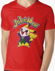 Pokemon Pikachu Jokemon Mens V-Neck T-Shirt