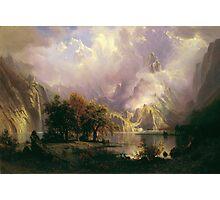 Albert Bierstadt - Rocky Mountain Landscape 1870 American Landscape Photographic Print