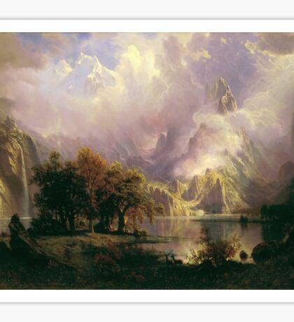 Albert Bierstadt - Rocky Mountain Landscape 1870 American Landscape Sticker