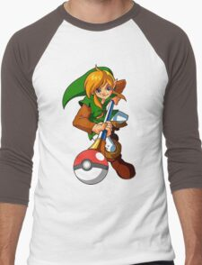 Zelda Pokemon Men's Baseball ¾ T-Shirt