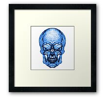 Blue Glass Skull Framed Print
